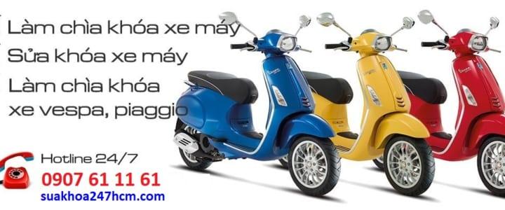Làm chìa khóa xe Vespa | Piaggio